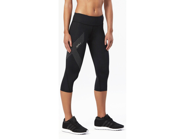 2XU Mid-Rise Compression 3/4 Long Tights Damen black/dotted reflective logo